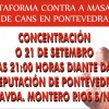 Concentracin contra la masacre de perros en Pontevedra