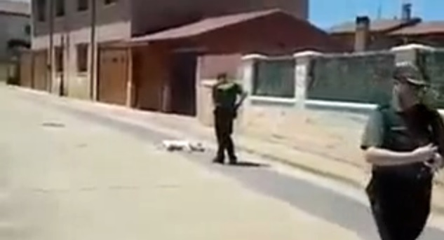 guardia civil dispara perro valdorros burgos