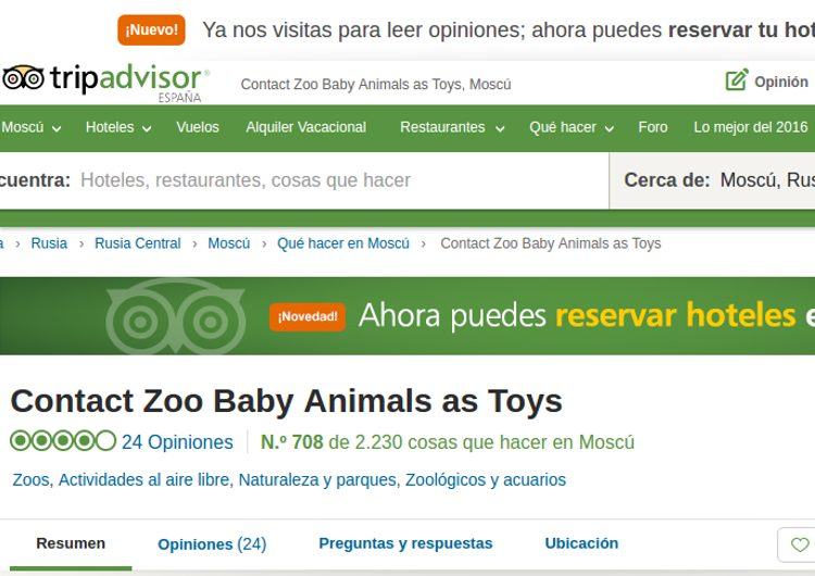 tripadvisor lista espectaculos maltrato animal
