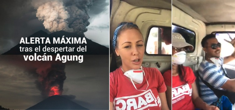 rescate animales volcan agung bali