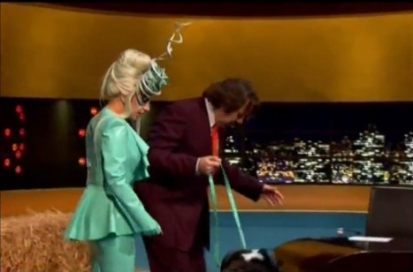 Lady Gaga and Jonathan Ross