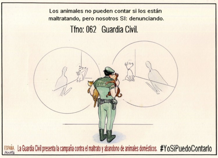 guardia civil campana maltrato animal ano 2019 yosipuedocontarlo