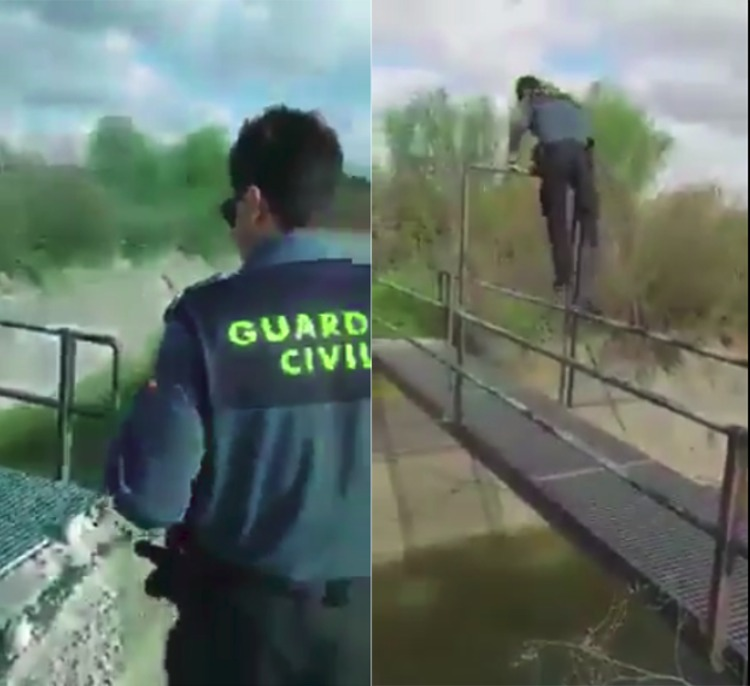 guardia civil miguel salva perro canal